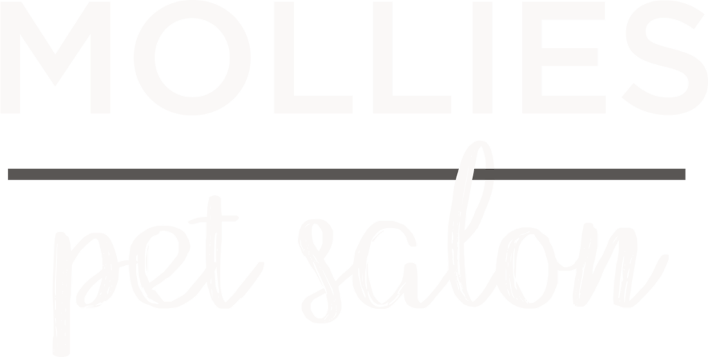 Mollies Pet Salon - Mollies is a boutique pet salon based in Bayswater on Auckland's North Shore - written logo in white